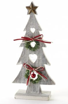 Limewash Wooden Christmas Tree, would make a great centrepiece on any table!!! www.rosieapple.ie