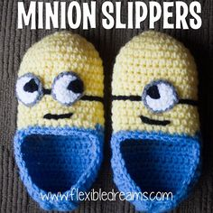 Dreams flexibles: Crochet Minion Zapatillas