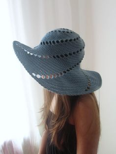 Wide Brimmed Summer Hat Ice Water Cold Blue Sea Breeze di dodofit