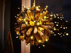 glowing window xmas decoration