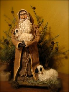 Handmade Primitive Santa Folk Art OOAK by HeartFeltPrims on Etsy, $195.00