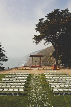 Real Wedding: Giuliana and William's DIY Coastal California Wedding (Ragged Point Inn)