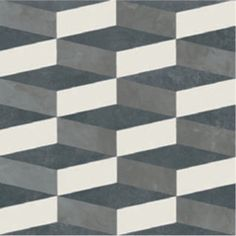 Azulej: Nero Cubo porcelain patterned tiles by Patricia Urquiola available to purchase from Surface Tiles