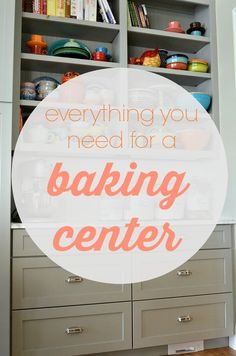 Baking center?  You don't even know how much you need one until you have one.  This post contains all the information you need on how to set up a baking center, full of creative storage ideas and a list of everything you need.  Bonus?  Links to products that will help you share your abundance with others without needing your dishes returned! Just in time for fall and holiday cooking! via lifeingrace