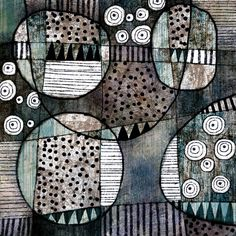 Michèle Brown Artist - The Old Cells Studio: In at the deep end   Overlapping and overlaid shapes