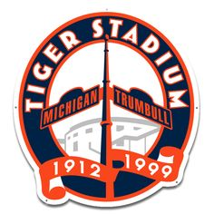 Detroit Tigers Stadium Logo on Chris Creamer's Sports Logos Page - SportsLogos. A virtual museum of sports logos, uniforms and historical items. Detroit Art, Detroit History, Detroit Sports, Espn Baseball, Detroit Tigers Baseball, Detroit Lions, Baseball Tickets, Cubs Baseball, Baseball Players
