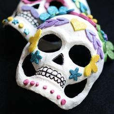 Make these kid-friendly Day of the Dead Calavera Masks with just a few supplies!