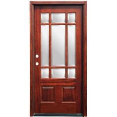 Back door benchmark by therma tru 70 9 16 in low e 15 lite for Home depot back doors