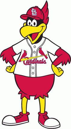 St. Louis Cardinals Alternate Logo (1980) - Graphic illustration of Fredbird mascot