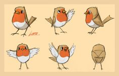 I was appointed to make bird character designs at school. I am more than okay…