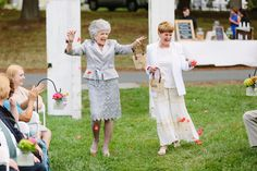 Flower-girl grandmas steal show: 'There was a lot of flair in their petal throwing'