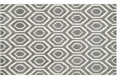 One Kings Lane - Pattern & Color - Danny Rug, Dark Gray/Ivory