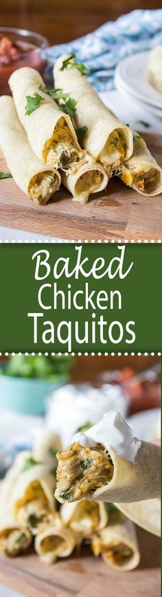Baked Chicken Taquitos!