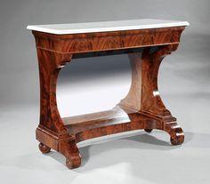 c1840 Empire pier table, lbl-Deming & Bulkley, NYC, mah, 42w, 16-2. http://www.ebay.com/usr/circa19century?_trksid=p2047675.l2559