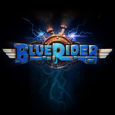 Become a rebel with a cause and fight against the robotic forces of evil. Blue Rider is a long-awaited arcade-like shoot-em-up game. It's pure action at its highest level. Easy to play, hard to b Logos, Typography Logo, Lettering, Art Logo, Logo Branding, Game Font, Game Ui, Pc Game, Blue Rider