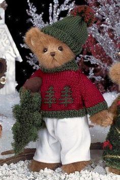 I am pine scented! Vintage Teddy Bears, Cute Teddy Bears, Teddy Bear Pictures, Teddy Bear Clothes, Christmas Teddy Bear, Crochet Teddy, Boyds Bears, Love Bear, Bear Doll