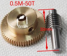 26.09$  Buy here - http://aikgg.worlditems.win/all/product.php?id=32798533485 - 0.5M-50Teeths   Gear Diameter:26.2mm  Hole:6mm  Rod L:33MM  Stainless Steel Worm Gear