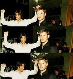Jensen is just so done with the gigantic 6.4' puppy man