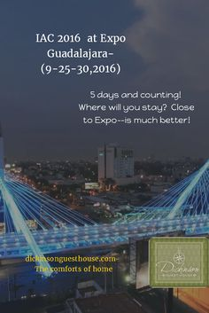 5 days and counting!  Where will you stay?  Close to Expo--is much better!