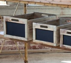 Amazon.com: Antique Style Produce Crates with Chalkboard Labels (Large): Home & Kitchen (mudroom)