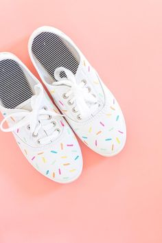 DIY Painted Ice Cream Sprinkles Shoes
