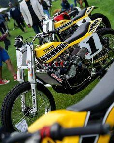 Yamaha Flat track 😎 A 2 Stroke widow maker 🤙 UKBikers Flat Track Motorcycle, Flat Track Racing, Tracker Motorcycle, Enduro Vintage, Vintage Motocross, Vintage Bikes, Yamaha 250, Flat Tracker, Nostalgia