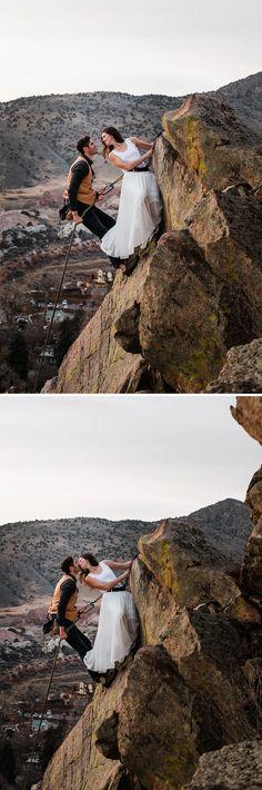 Morrison Colorado rock climbing engagement, adventure elopement and wedding photographer based in Boulder