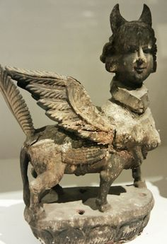 "A most wonderful sculpture representing Al-Burāq (""lightning,"" a mythological steed, described as a creature from the heavens which transported the prophets). Provenance unknown. via Art Propelled"