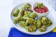 Saludables al horno Brócoli Tots son el perfecto aperitivo bajo en grasa!  #GimmeDelicious #Skinny