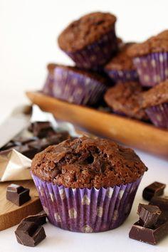 Zoet & Verleidelijk: Chocolademuffins met chocolate chips