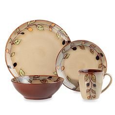 Sango Vineyard 16-Piece Dinnerware Set - BedBathandBeyond.com