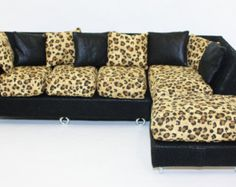 Barbie Furniture Sofa also for Monster High, Blythe, Bratz and other playscale dolls, Couch