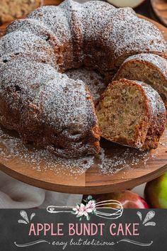 Apple Bundt Cake Recipe (Easy but delicious!) - Olivia's Cuisine Apple Bundt Cake Recipes, Apple Crumb Cakes, Apple Tart Recipe, Apple Recipes, Apple Cake, Bundt Cake Pan, Bundt Cakes, Pound Cake, Easy Desserts
