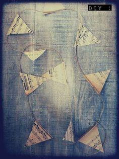 guirlande fanion papier