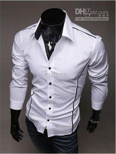 Men's Shirts Casual Slim Fit Stylish Mens Dress Shirts Men Fashion ...