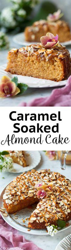 Caramel Soaked Almond Cake {AKA Toscakaka Torte} via @cookingclassy