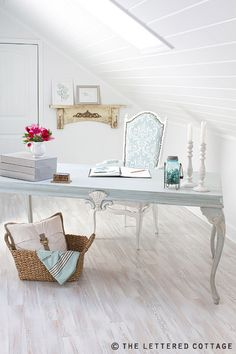 White washed wood floor... so whimsical! Adore it with the right accents