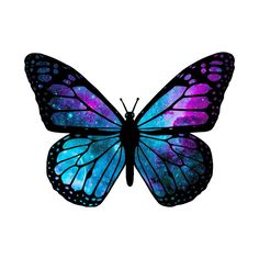 """Check out this awesome """"Galactic + Butterfly"""" design on -. - Check out this awesome """"Galactic + Butterfly"""" design on -… – Check out this awesome - Watercolor Butterfly Tattoo, Colorful Butterfly Tattoo, Butterfly Drawing, Butterfly Tattoo Designs, Butterfly Pictures, Butterfly Painting, Butterfly Wallpaper, Butterfly Design, Butterfly Tattoo Cover Up"""