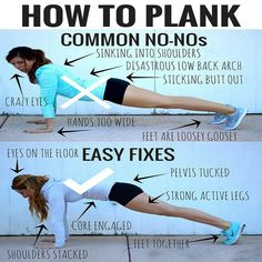 How to Plank! #Fitness #Exercise #Health #Guide #Plank #MDUB