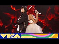 "Eminem & Rihanna Perform ""Love the Way You Lie / Not Afraid"" at 2010 VMAs | MTV - YouTube Eminem Rihanna, Rihanna Love, Eminem Videos, Travis Barker, Tattoo Symbols, You Lied, No Way, Mtv, Relationship Quotes"