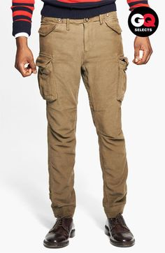 If you dont like corduroy, try moleskin!Gant by Michael Bastian Skinny Moleskin Cotton Cargo Pants available at #Nordstrom
