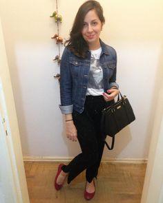 De hoje. Jaqueta @oldnavy, camiseta @zara, calça @forever21, sapatilhas @anacaprioficial e bolsa @katespadeny.  #trintaepoucos #look #lookbook #lookoftheday #lookdavidareal #fashionlook #instabgs #fashion #instalook #lookofthenight #instafashion #fashionblog #fashionista #fastfashion #fashionaddict #outfit #outfitoftheday #ootd #ootn #outfitofthenight #modabarata