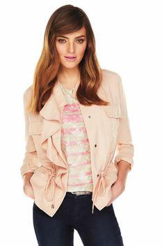 ELLE keyhole front flutter sleeve blouse at #Kohls #WinkOfPink