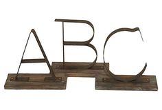 Alphabet Objets, Asst. of 3 on OneKingsLane.com