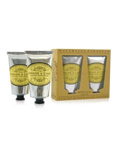 20% OFF! Naturally European Hand & Foot Collection: A luxurious hand and foot gift set, containing our supremely moisturising and ever popular hand cream, and exclusive to this set, an ultra conditioning foot cream. Available in all the Naturally European fragrances, Ginger & Lime, Verbena, Rose Petal, Lavender, Milk and Sage.