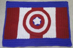 Captain America Rug Pattern Rug Pattern by TheCreativeMandM