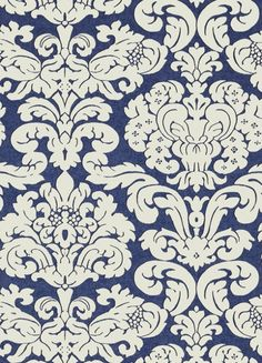 Trelawny Damask Wallpaper This large-scale Trelawny Damask design is a…