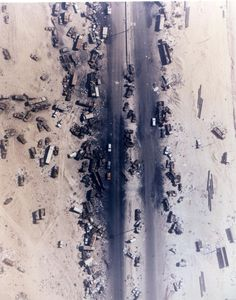 Highway of Death, Kuwait. 1991. The result of American forces bombing retreating Iraqi forces.