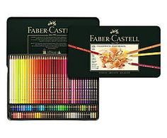 Faber-Castell Polychromos Artists' Color Pencils - Tin of 120 Colors - Premium Quality Artist Pencils Colores Faber Castell, Lapis Faber Castell, Graf Von Faber Castell, Coloring Book Art, Adult Coloring, Faber Castell Polychromos 120, Faber Castell Albrecht Dürer, Soft Colors, Colours