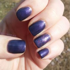 Purple Orchid #SensatioNail shade + a sparkly accent nail